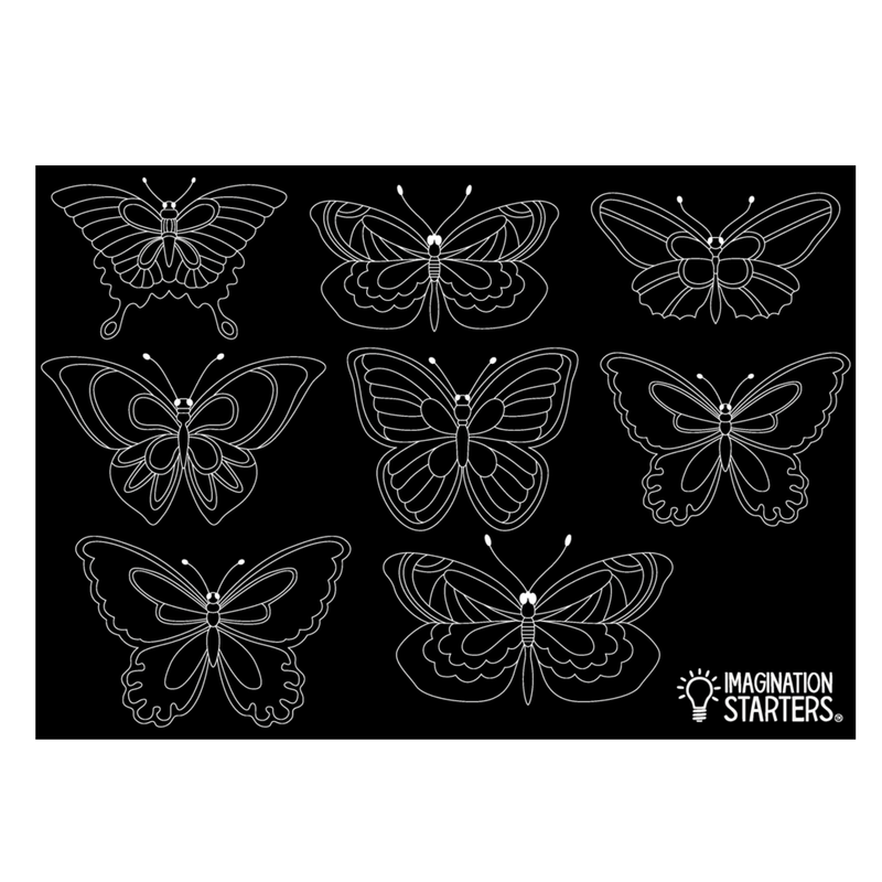 No-mess Butterfly Mat & Chalk Crayons