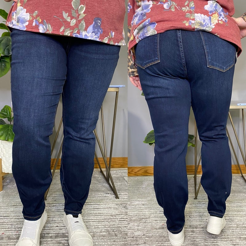 Mid Rise Non Distressed Maternity Judy Blue Jeans