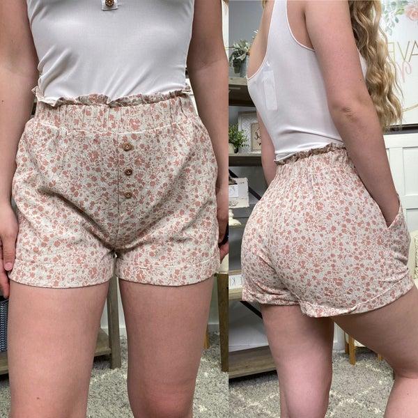 Rustic Flower Shorts