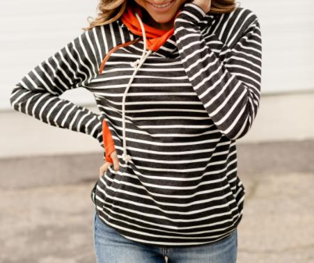 Pumpkin Pickin Ampersand Avenue Doublehood Sweatshirt