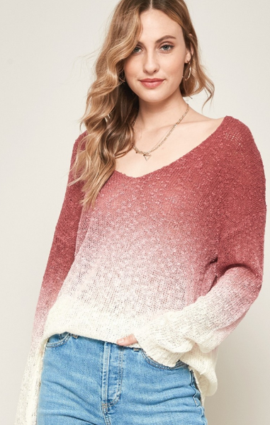 Ombre Your Life Sweater - 2 colors!