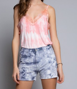 Shades of Pink Lace Detail POL Tank