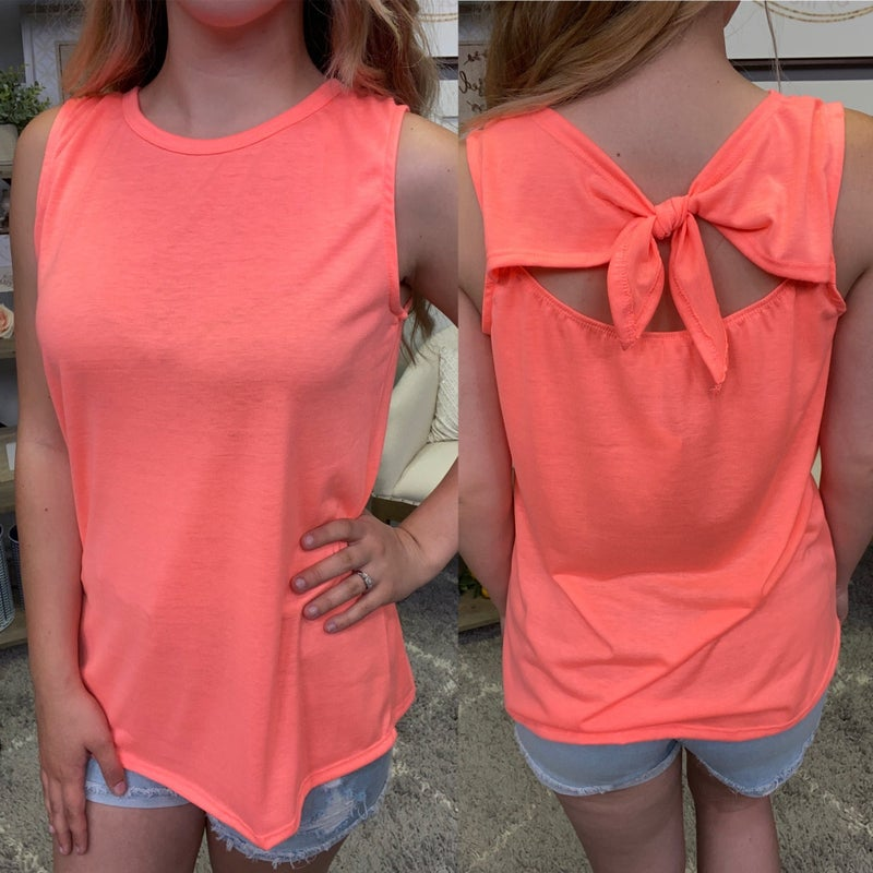Tied Up With A Bow Tank - 2 colors!