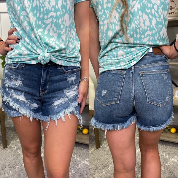 The Frankie Judy Blue Tulip Shorts
