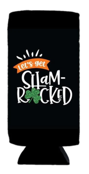 St. Patty's Slim Can Koozie - 4 options!