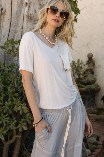 Girly Meets Basic POL Top - 2 colors!
