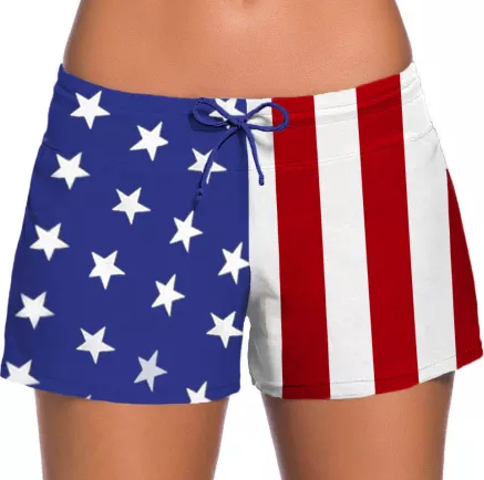 Not Short of American Pride Swim Shorts