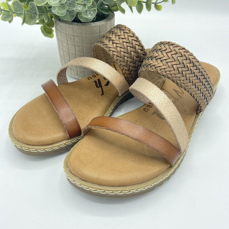 Shades of Brown Slide Sandals