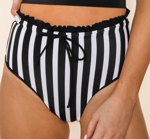 Black Striped Beatle Juice Bottoms