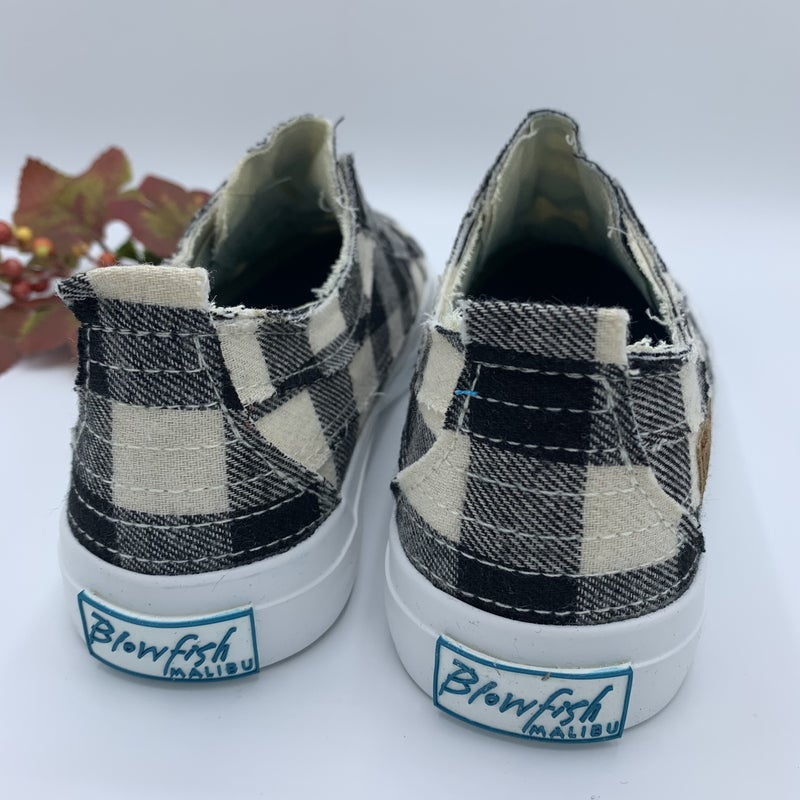 Cream Buffalo Plaid Blowfish Sneakers