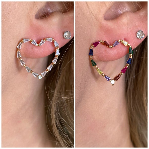 Be Me Heart Earrings- 2 colors!