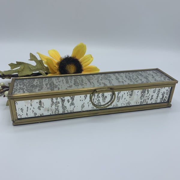 Gold Framed Mirror Jewelry Box
