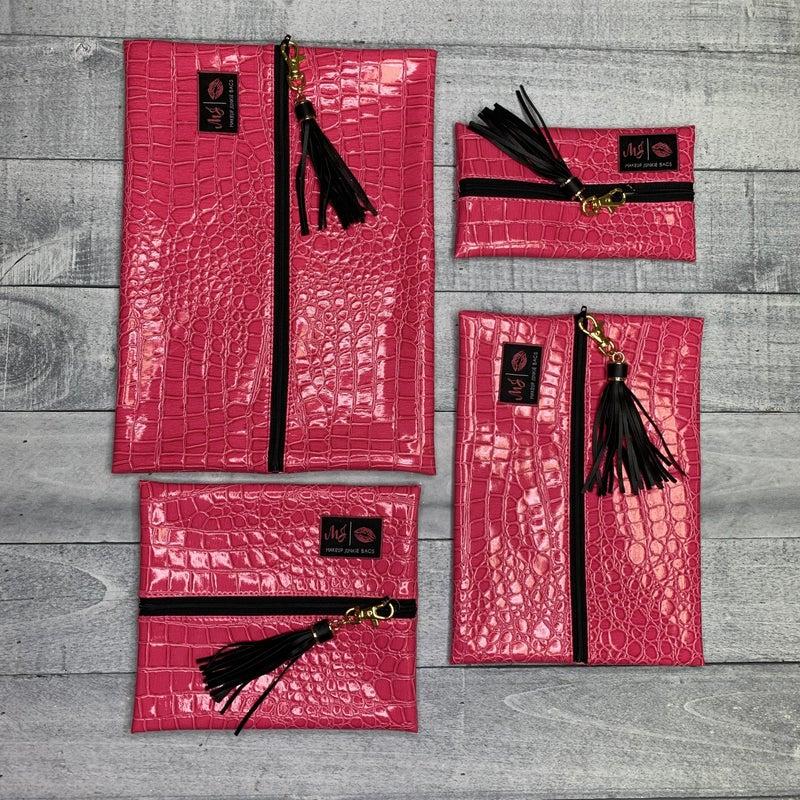 Pink Snake Makeup Junkie Bag
