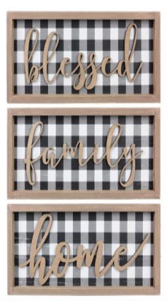 Black & White Plaid Decor - 3 options!
