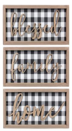 Black & White Plaid Decor - 3 options!