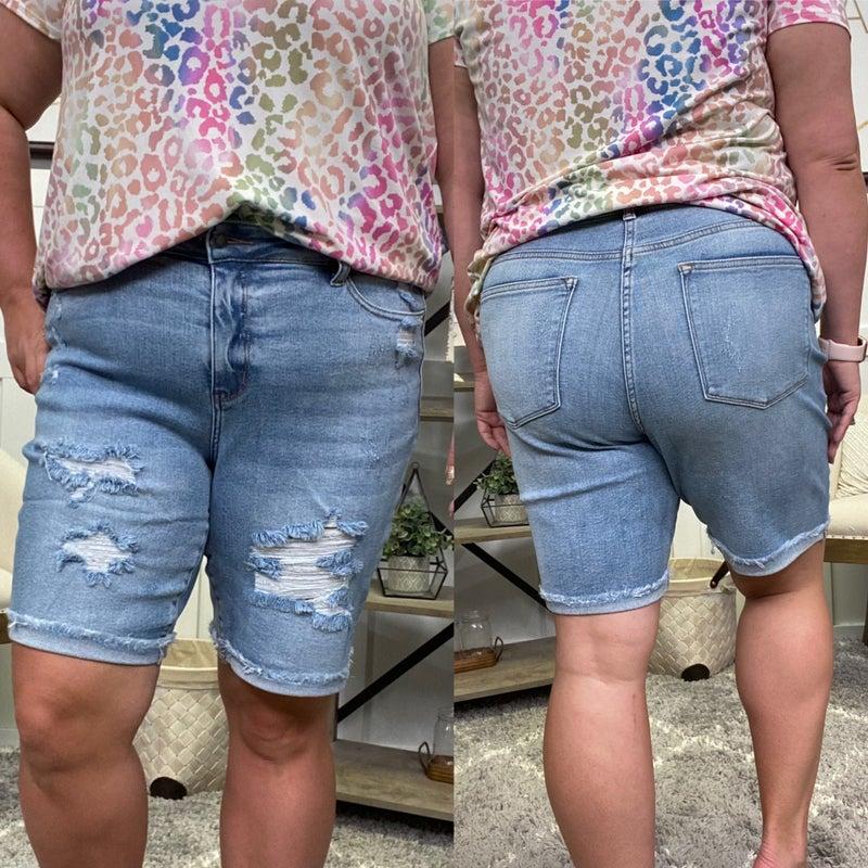 The Isabel High Rise Judy Blue Bermuda Shorts