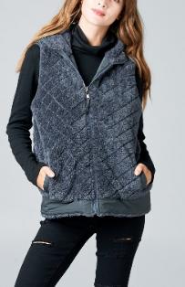Quilted Fur Reversible Vest