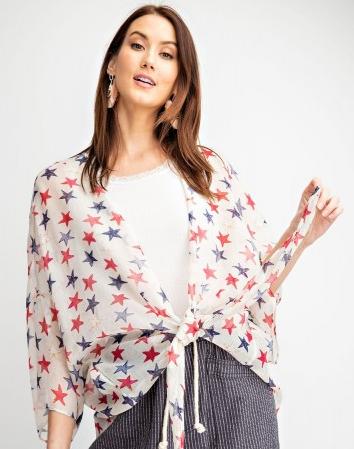 Salute The Stars Sheer Kimono