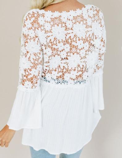 Crochet Lace Button Top - 4 colors!