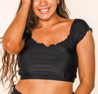 The Perfect Black Swim Top