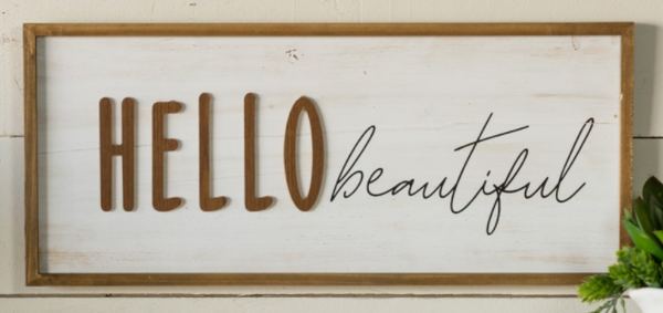Hey, What's Up, Hello Wood Sign - 2 options!