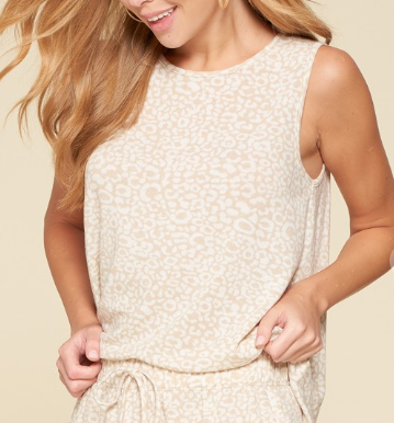 Taupe Leopard Comfy Tank