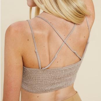 Double Strap Padded Crochet Lace Bralette - 5 colors!