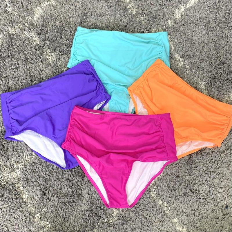Happy Vibes Swim Bottoms - 4 colors! *FINAL SALE*