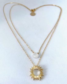 Gold Layered Social Gold Necklace