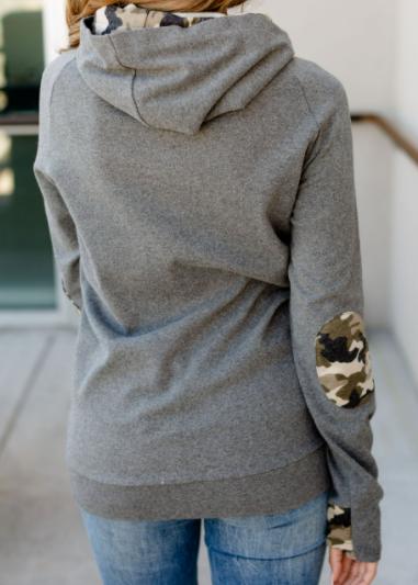 Camo Queen Ampersand Avenue Double Hooded Sweatshirt