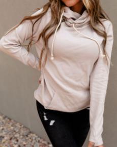 Neutral Dreams Ampersand Avenue Double Hooded Sweatshirt