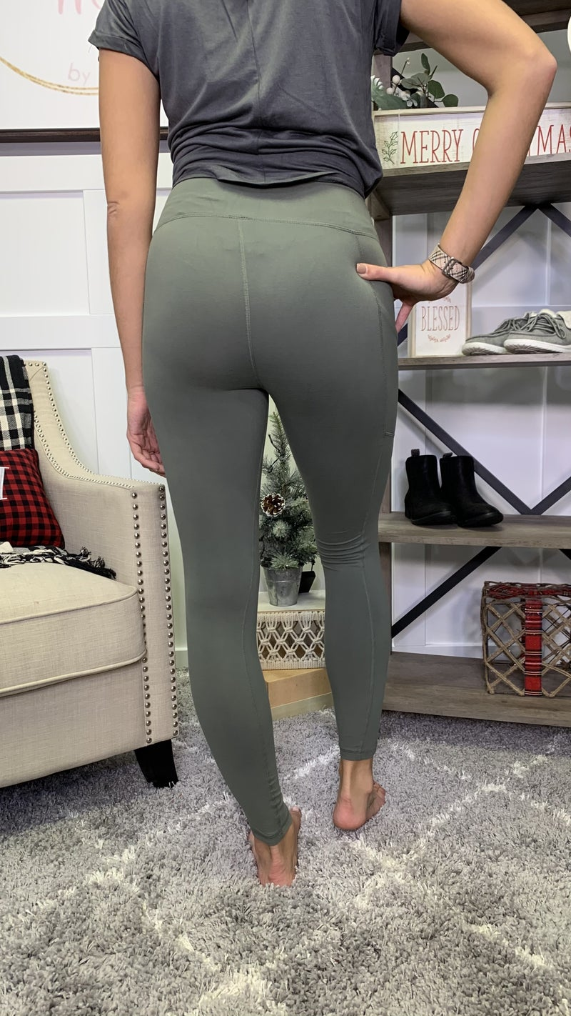 Work It Out Olive Leggings