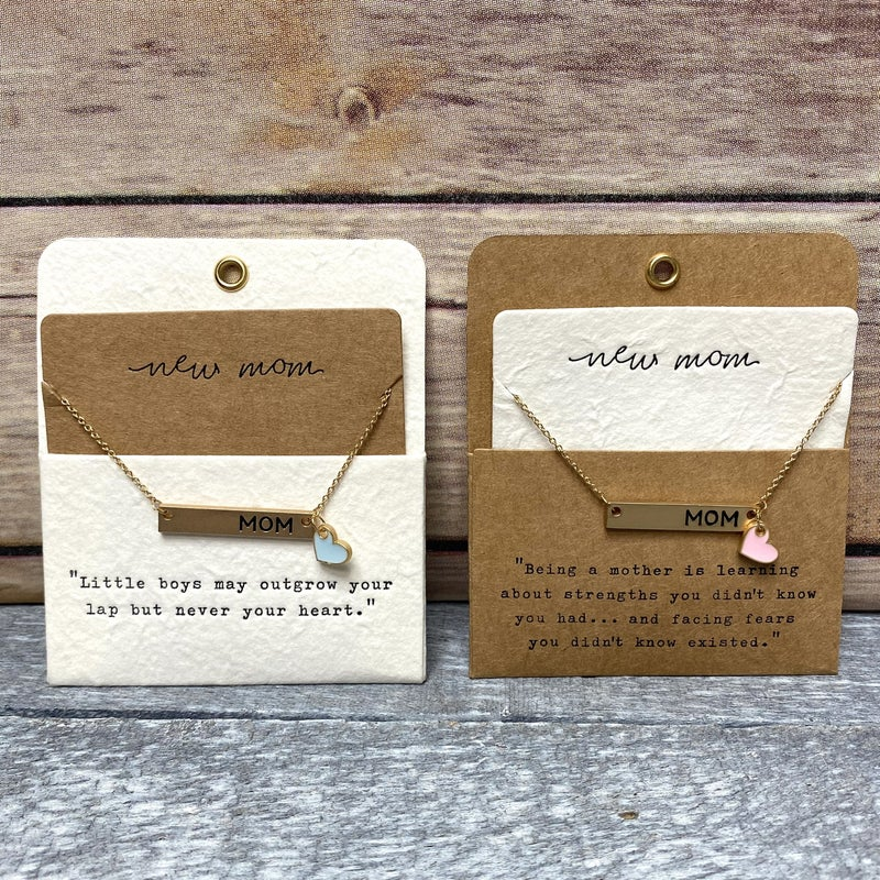 New Mom Necklace - 2 colors!