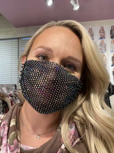 Mesh Sparkle Face Covering