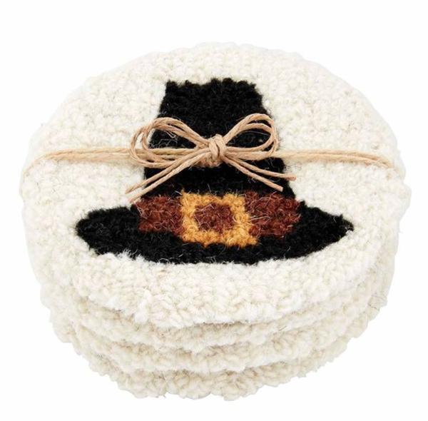 Pilgrim Hat Coasters ( 4 piece set)