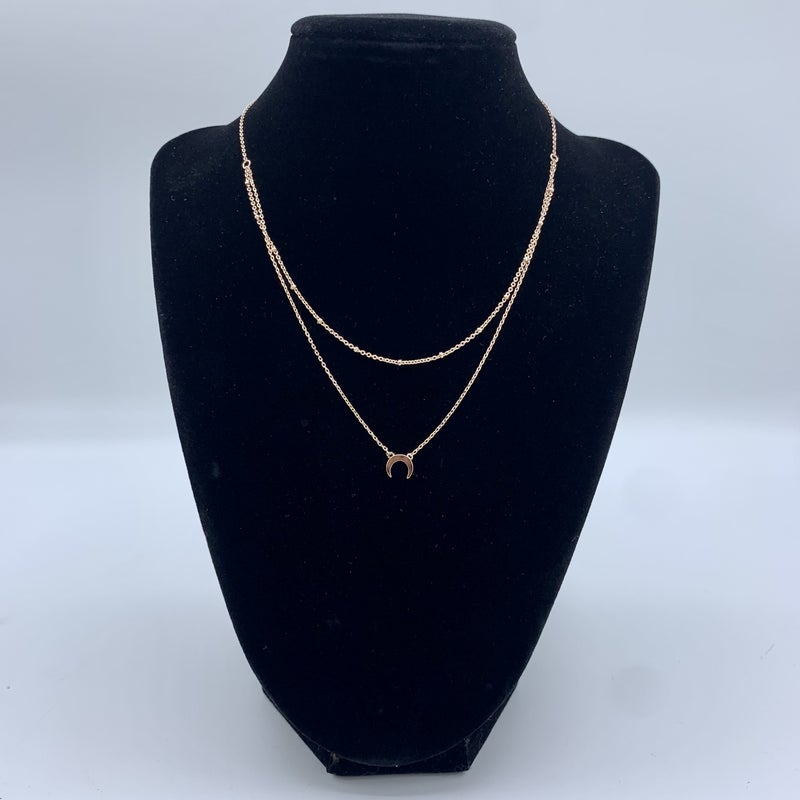 Crescent Layering Necklace - 3 colors!