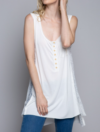 Peek-a-Boo Lacey POL Top
