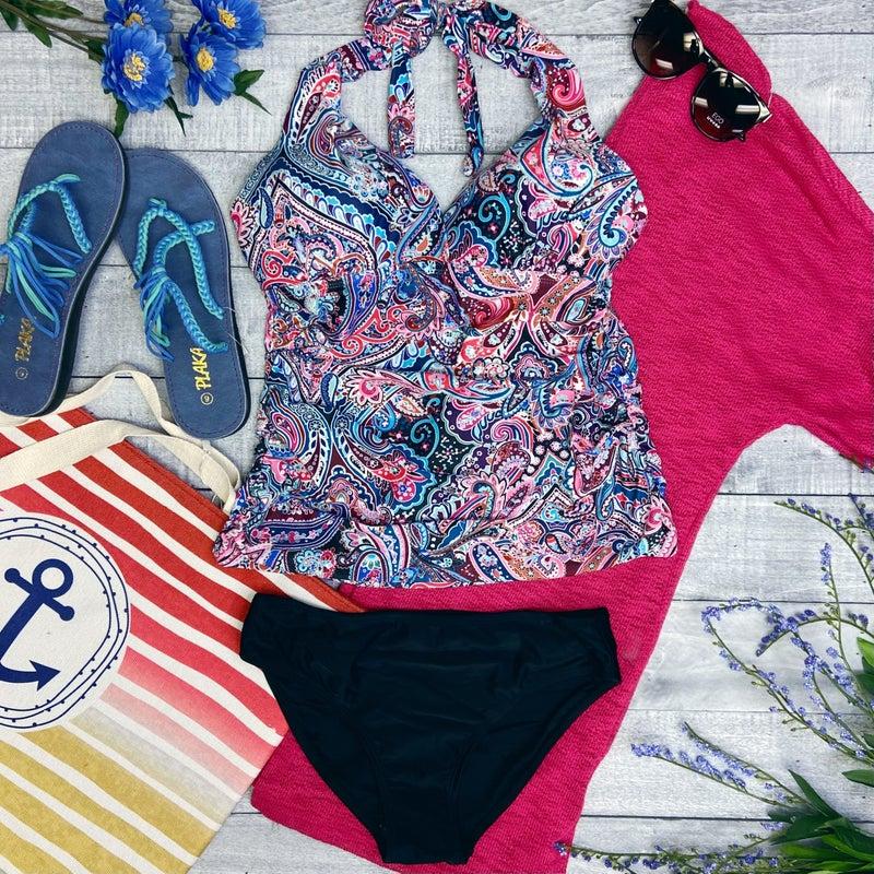 Paisley Love Halter Tankini Swimsuit *FINAL SALE*