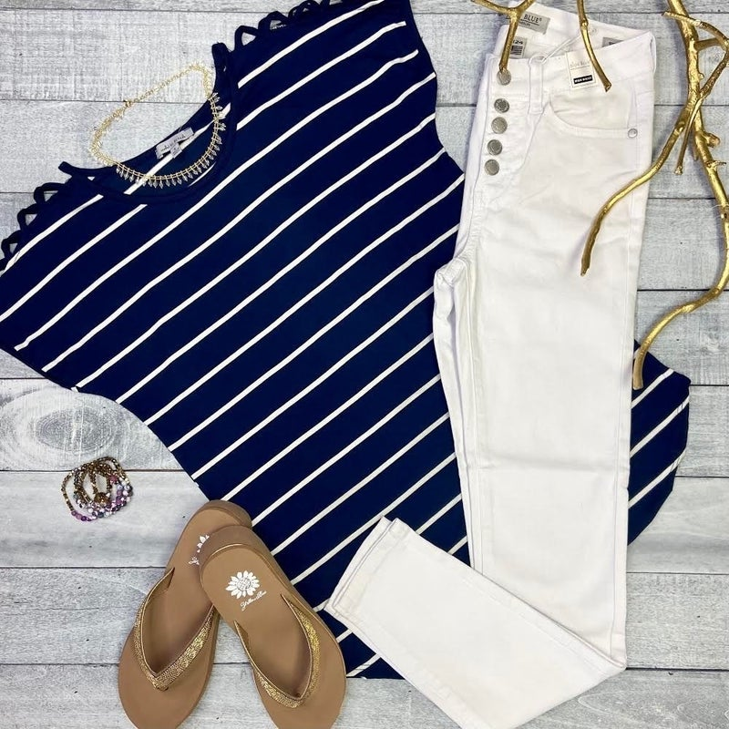 All The Stripes Knit Top