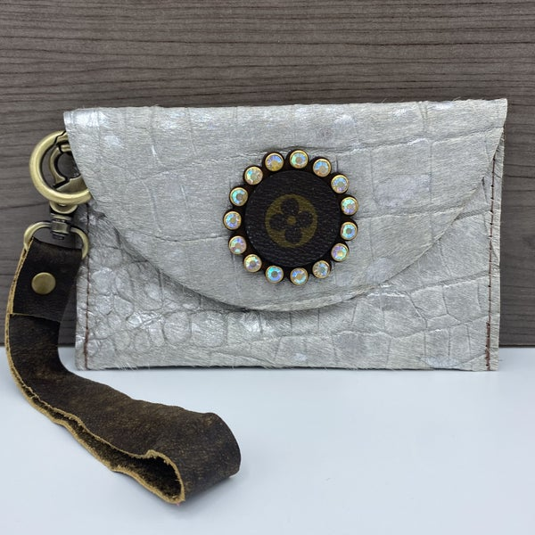 The Old Town Road Up-Cycled Designer Wristlet