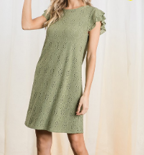 Eyelet Lace Shift Dress - 3 colors!