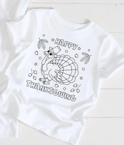 Coloring Kid's Thanksgiving Tee