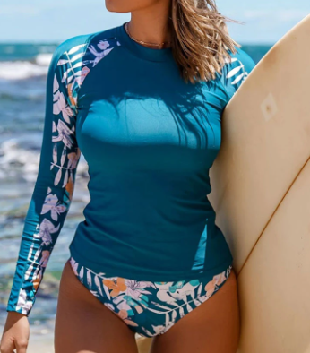 Surfs Up Long Sleeve swimsuit Top *Final Sale*