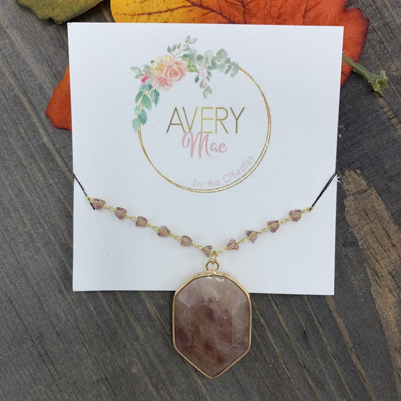 Beaded Pink Avery Mae Exclusive Necklace