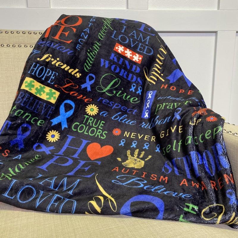 Autism Awareness Oversized Blanket