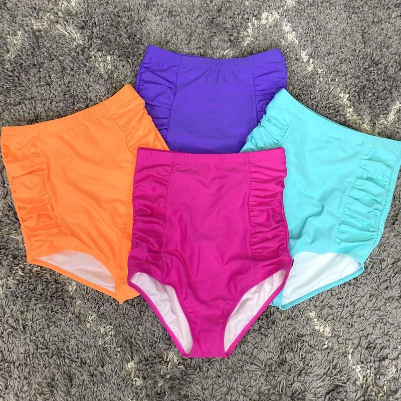 Ariel Ultra High Rise Swim Bottoms - 4 colors! * FINAL SALE*