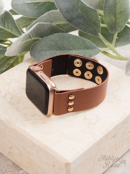 Simple Staple 38/40 Brown Leather Smart Watch Band