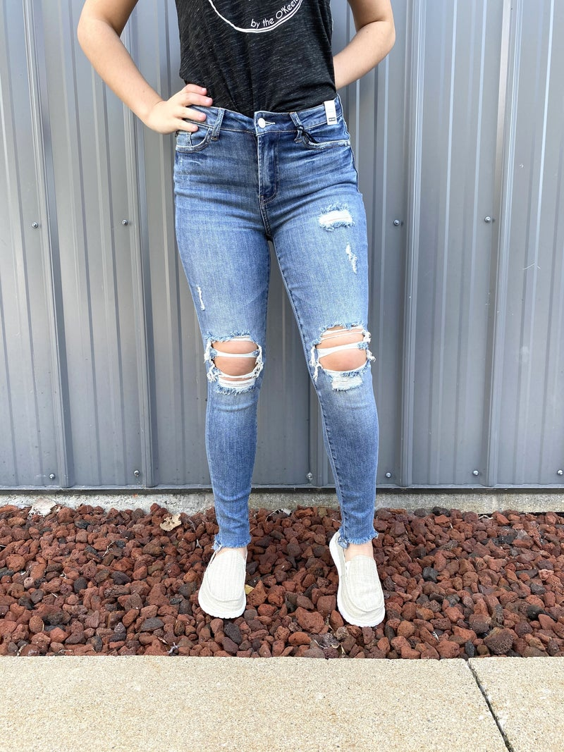 The Must Have Knee Destroyed High Waisted Judy Blue Jeans