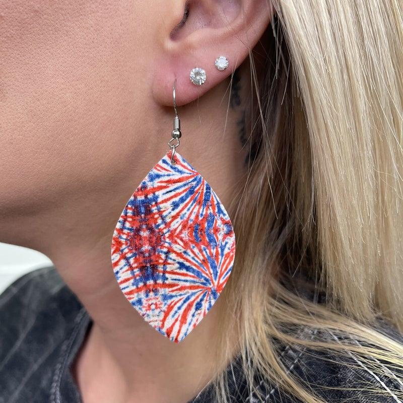 Fireworks Tie Dye Earrings