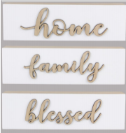 Raised Letters Wood Signs - 3 Options